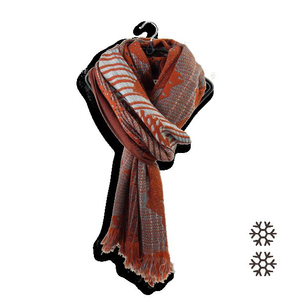 Echarpe-femme-laine-sport-hiver-nébuleuse-Rouille-6A