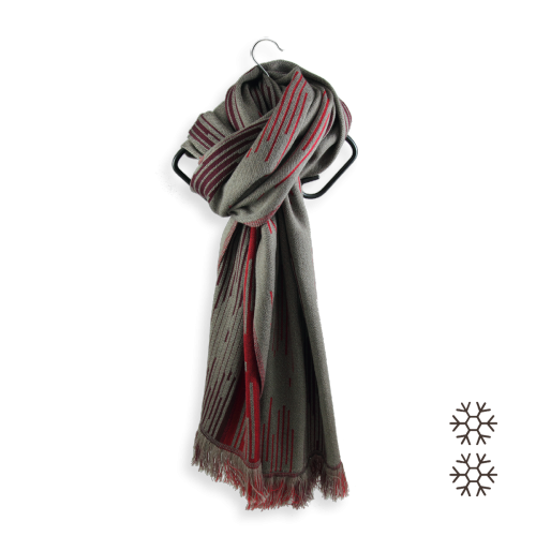 echarpe-homme-laine-merinos-modal-rouge-beige-Néon-5A