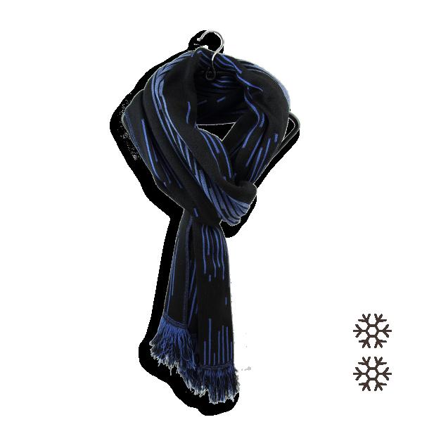 Echarpe-homme-laine-modal-bleu-noir-Néon