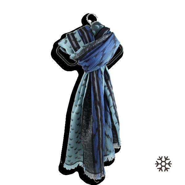 Echarpe-homme-atome-laine-soie-bleu