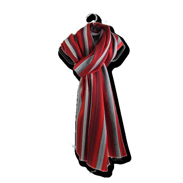 Echarpe-laine-merinos-soie-carthage-rouge-fabriqué-en-france