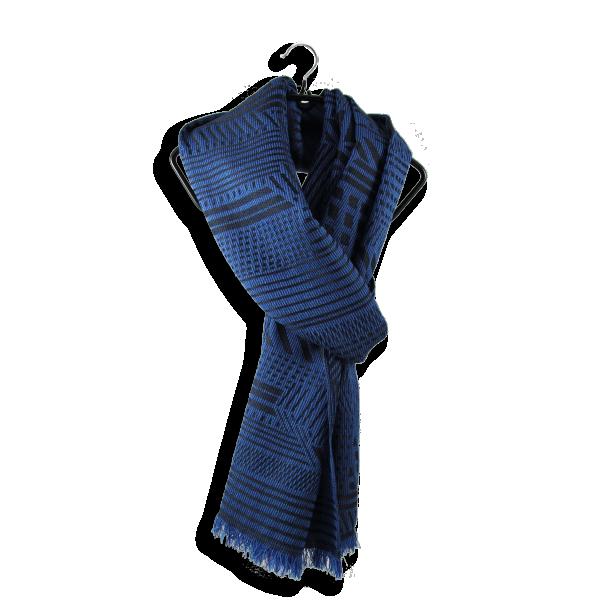 Echarpe-homme-laine-soie-bleu-kyoto-3A