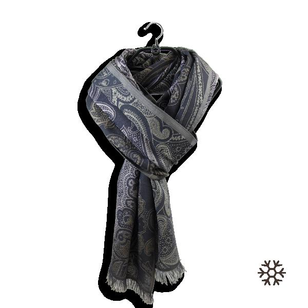 echarpe-femme-laine-merinos-soie-parme-brun-Mélodie