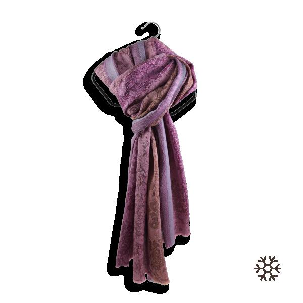Echarpe-femme-tendresse-laine-soie-mauve-parme