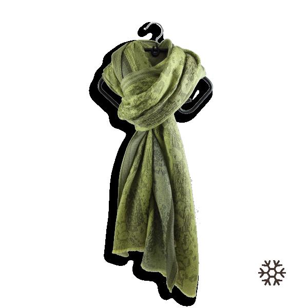 Echarpe-femme-tendresse-laine-soie-vert