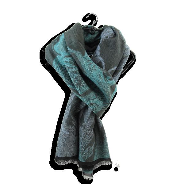 écharpe-femme-coton-laine-kaki-Renaissance