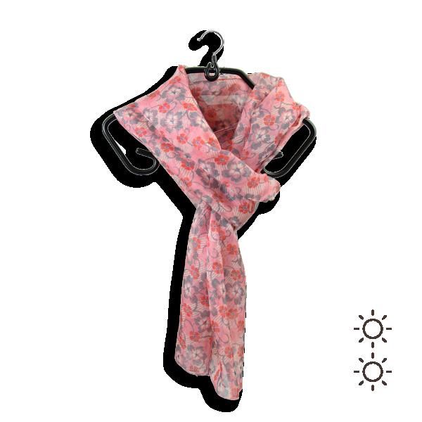 Foulard-femme-soie-rose-pivoine-imprimé-fleur-fabrique-en-France