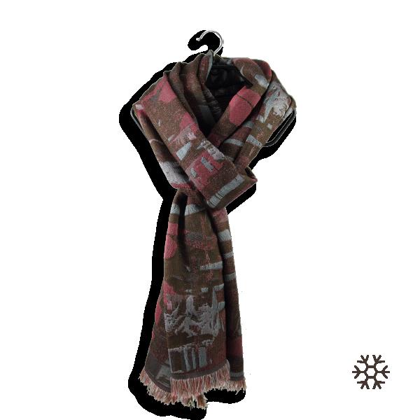 Echarpe-femme-soie-laine-coton-marron-rose-Oslo-1A