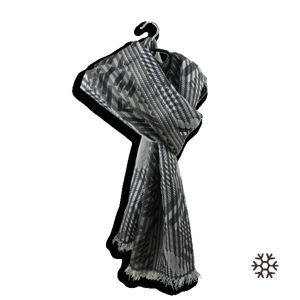 Echarpe-homme-geometrique-ride-laine-soie-gris-beige-4A