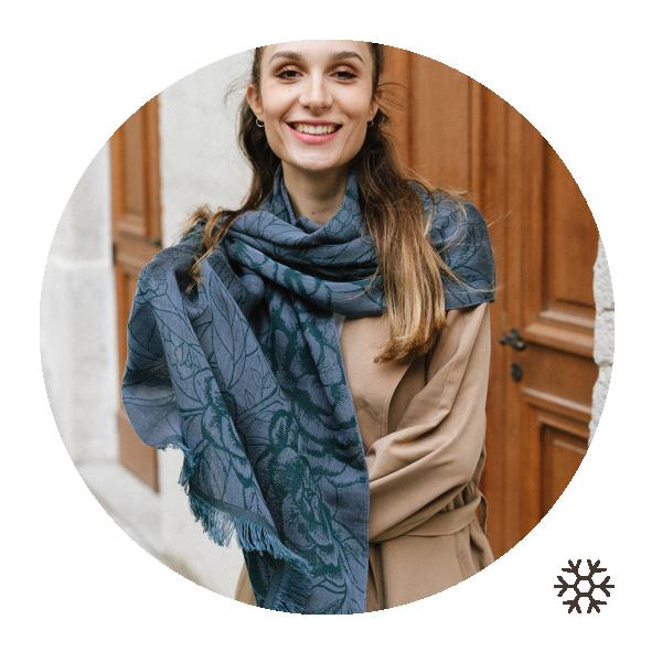 Etole-femme-ronsard-cachemire-coton-soie-mauve-canard-6A