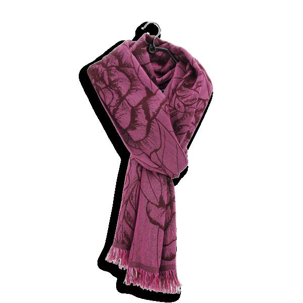Etole-femme-ronsard-cachemire-coton-soie-rose-bordeau-3A