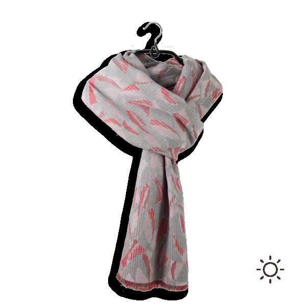 Echarpe-homme-coton-modal-le-conqueran-gris-rouge-1-A