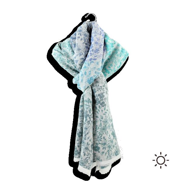 Cheche-femme-coton-modal-soie-bleu-vert-Bacopa-4A