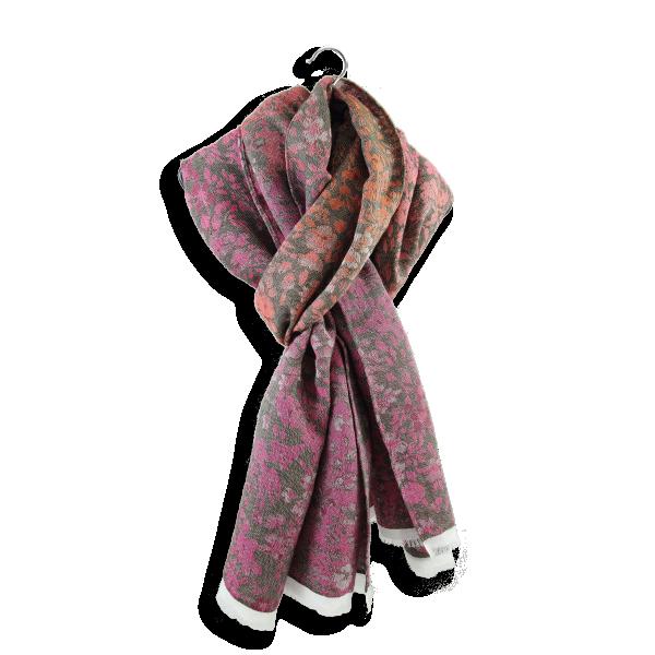 Cheche-femme-coton-modal-soie-rose-corail-Bacopa-2A