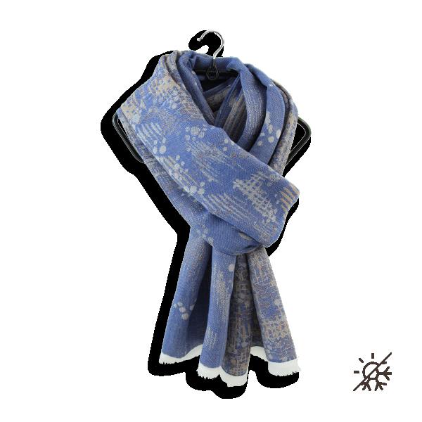 Cheche-femme-coton-modal-soie-bleu-jean-Perma-7A