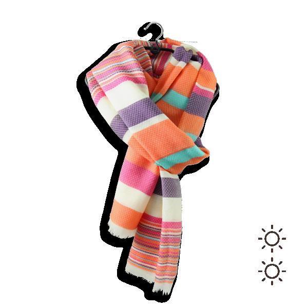 Cheche-femme-coton-soie-orange-violet-rouge