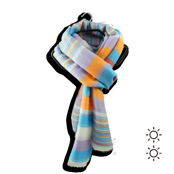 Cheche-femme-coton-soie-bleu-orange-4-A