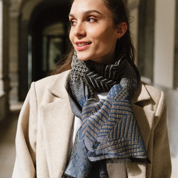 Echarpe-homme-femme-amour-laine-soie-coton-bleu-gris-3A