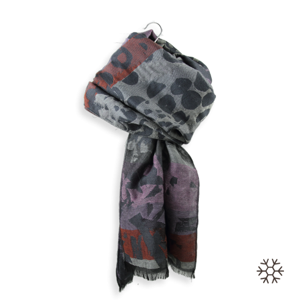 Etole-femme-impulsion-laine-coton-soie-gris-violet-1A