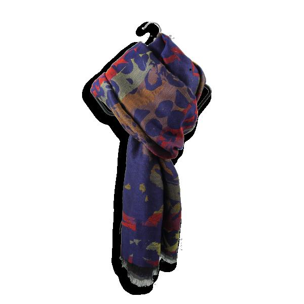 Etole-femme-impulsion-laine-coton-soie-marine-rouge-3A