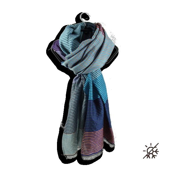 Etole-laine-merinos-coton-soie-kaleida-bleu-fabriqué-en-france