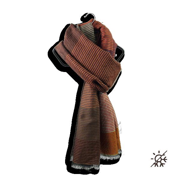 Etole-femme-kaleida-laine-coton-soie-marron-cuir-21A