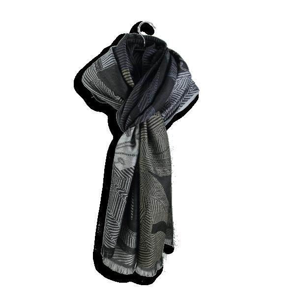 Etole-laine-merinos-coton-soie-lys-noir-gris-fabriqué-en-france