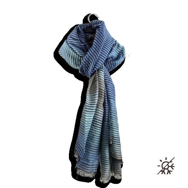Etole-femme-polaris-laine-soie-coton-bleu-ciel