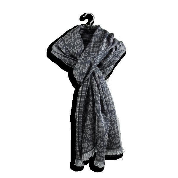 Echarpe-laine-merinos-coton-soie-rose-tremière-gris-fabriqué-en-france