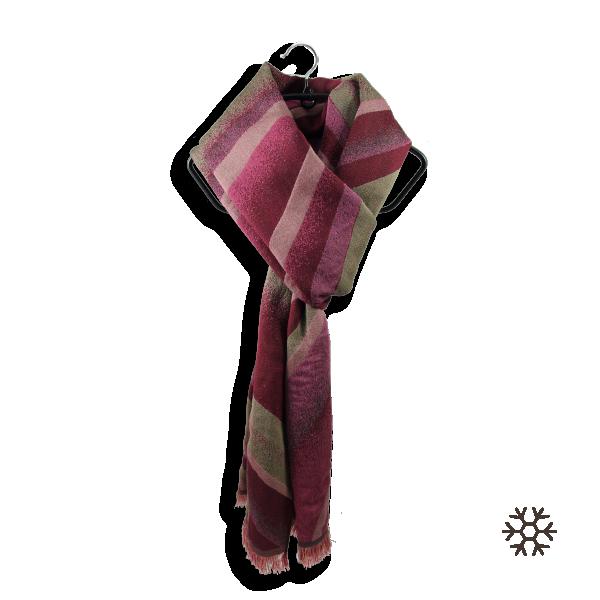 Etole-homme-femme-san-francisco-laine-coton-soie-rouge-beige-3A