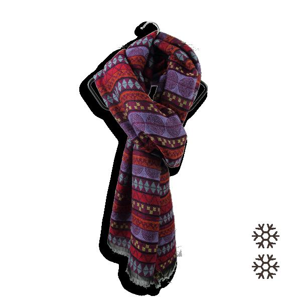 Etole-femme-laine-merinos-coton-soie-rouge-prune-sydney-3A