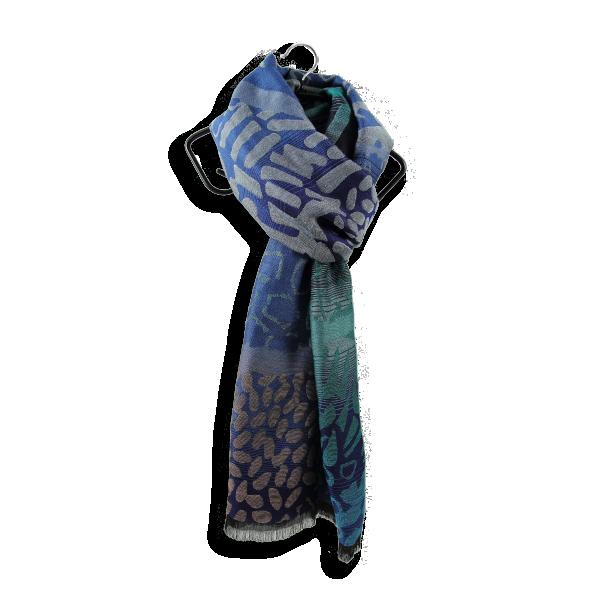 Etole-femme-laine-coton-soie-Varasani-bleu-3A