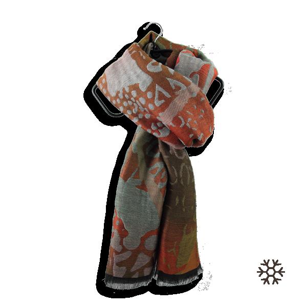 Etole-femme-laine-coton-soie-rouille-marron-Varanasi-2A