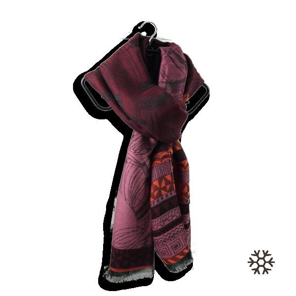 Echarpe-femme-laine-merinos-rouge-bordeaux-caprice-4A