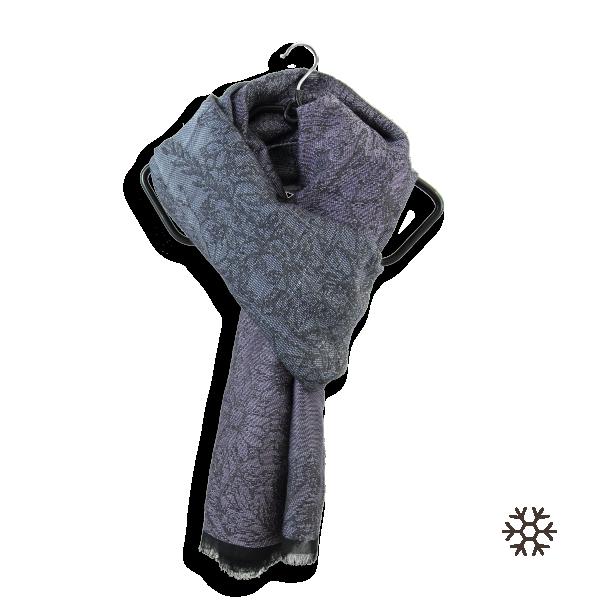Etole-femme-laine-soie-coton-modal-violet-argent-Secret-3A