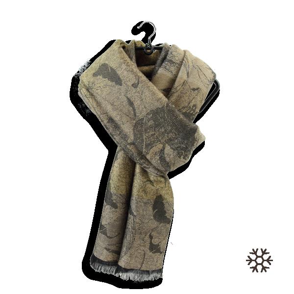 Etole-femme-laine-coton-soie-or-beige-Vienne