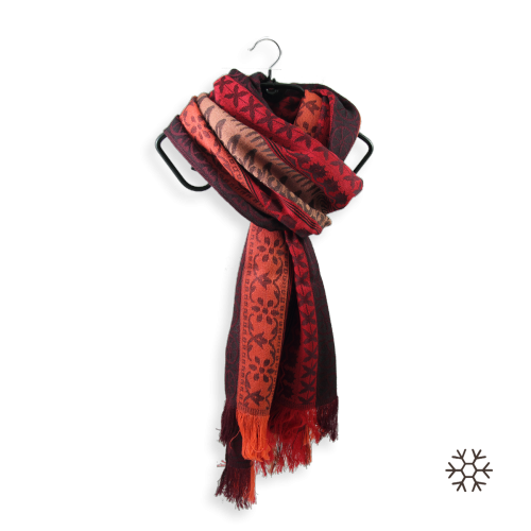 Echarpe-femme-precieux-laine-modal-rouge-nude-2A