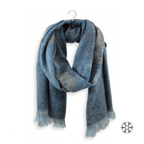 étole-femme-modal-laine-coton-bleu-jean-Confetti