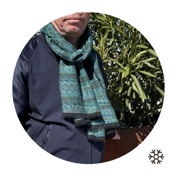 Etole-homme-verte-modal-coton-laine-Cromagnon-2A