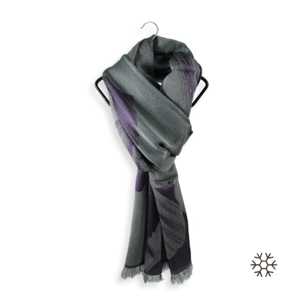 Etole-femme-cachemire-soie-violet-vert-amande-Serenade-2A