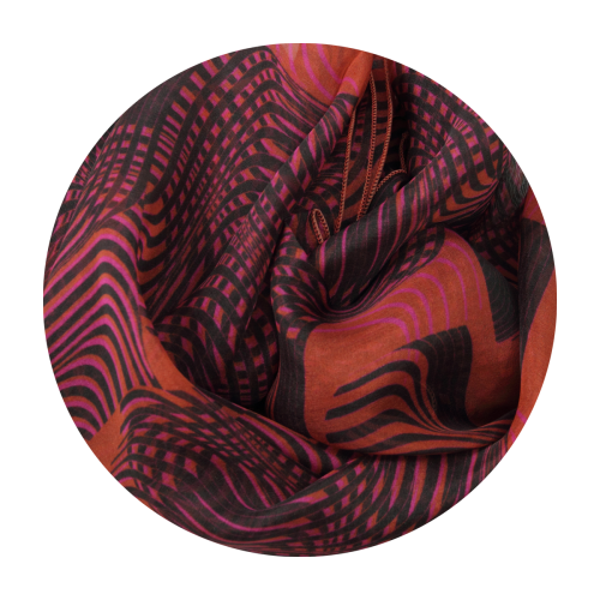Foulard-femme-optical-soie-rouge-1A