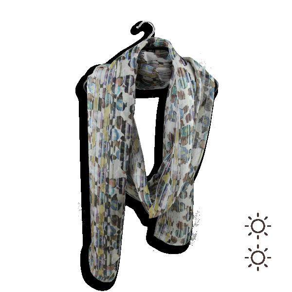 Foulard-femme-rayure-floral-soie-beige-bleu-4A