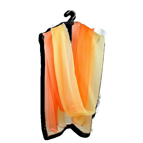 Soie ombree jaune orange