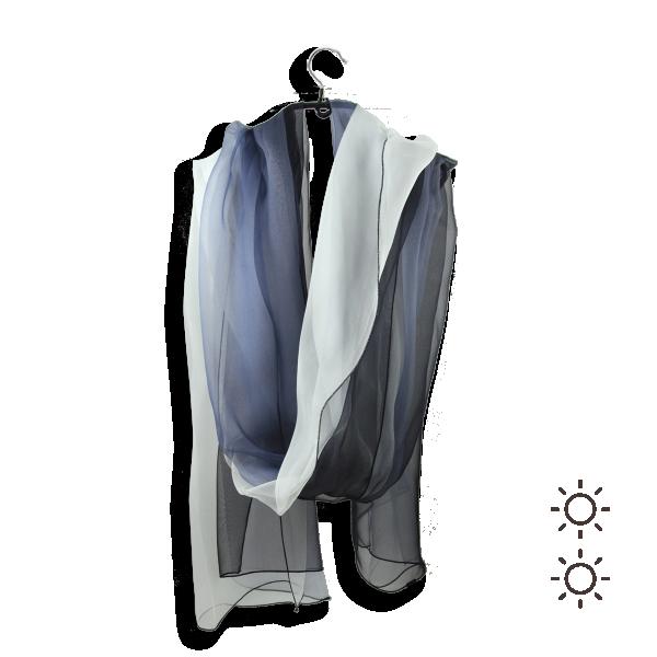 Etole-soie-femme-ombree-noir-blanc-607A