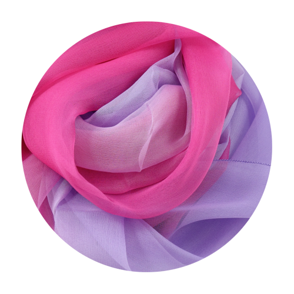Soie ombree rose violet fabrique en France