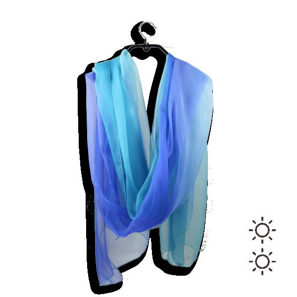 Etole-soie-femme-ombree-bleu-736A