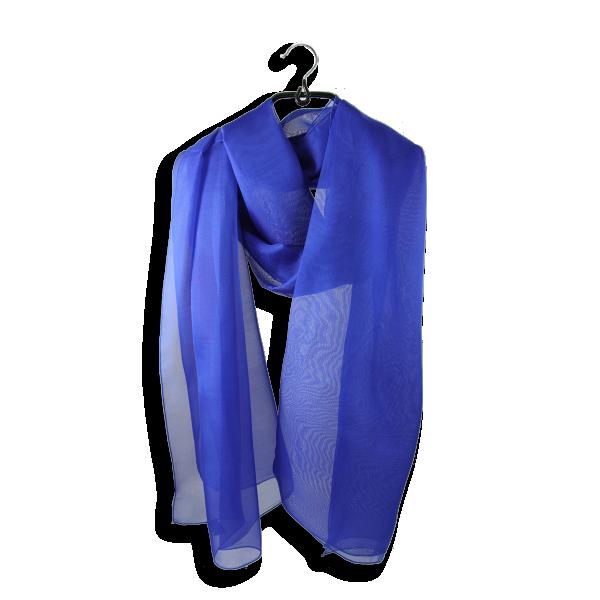 Etole-mousseline-soie-uni-fabrique-en-france-bleu-roi-electrique-509A