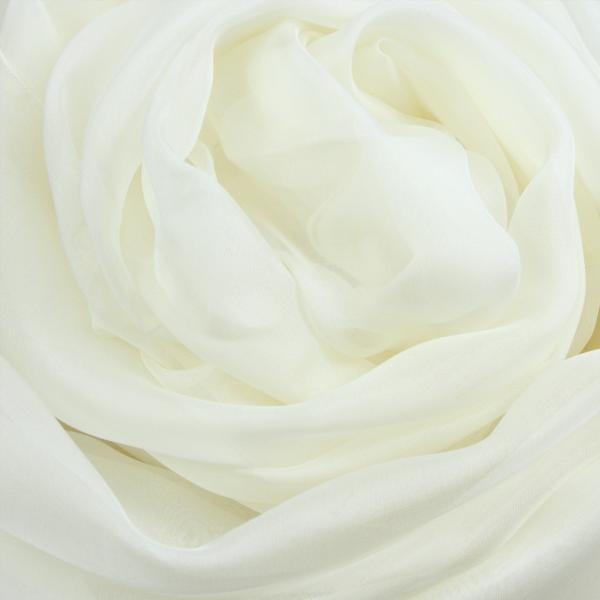 Etole mousseline soie unie fabrique en france ecru blanc