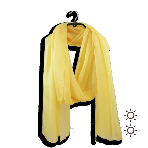 Etole-femme-mousseline-soie-unie-jaune-804A