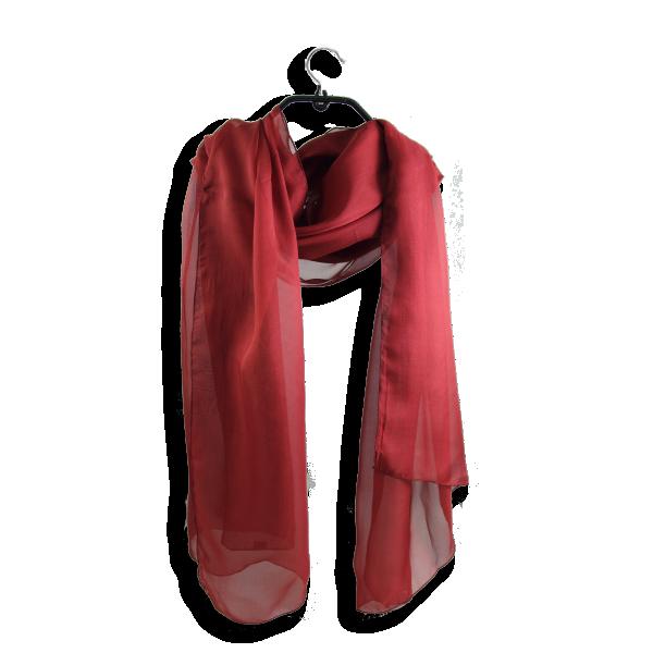 Etole mousseline soie unie fabrique en france rouge bordeaux